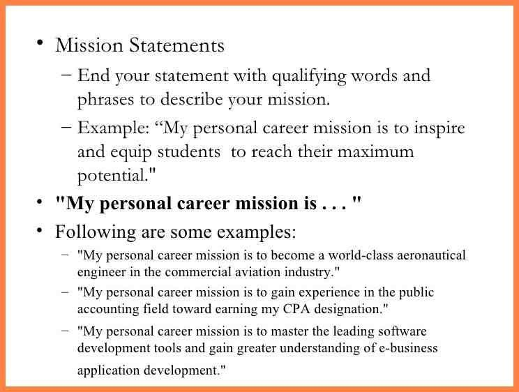 5+ examples of personal vision statements for life | Personal ...