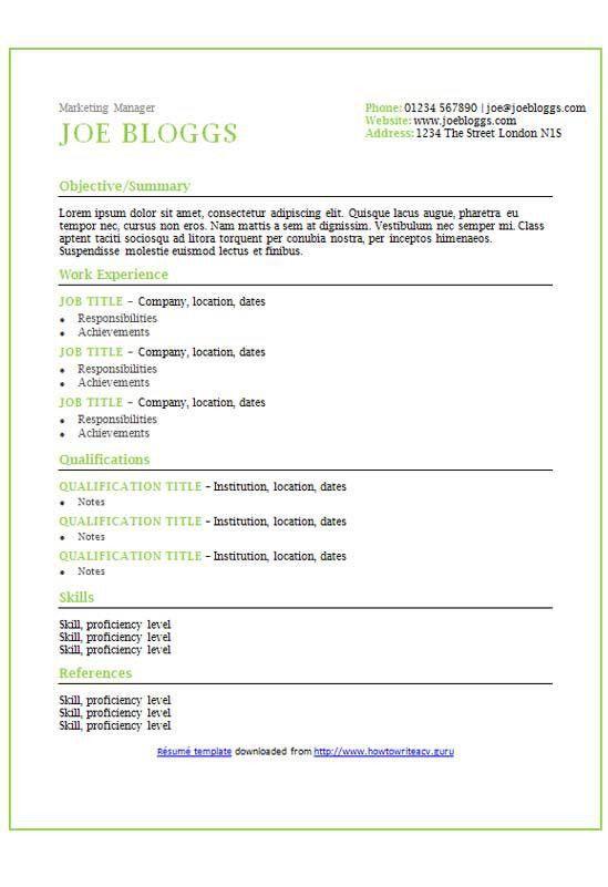 Apple accents CV/résumé template - How to write a CV
