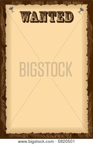 Image of Parchment Wanted Poster Wild West Cowboy Western Themed ...