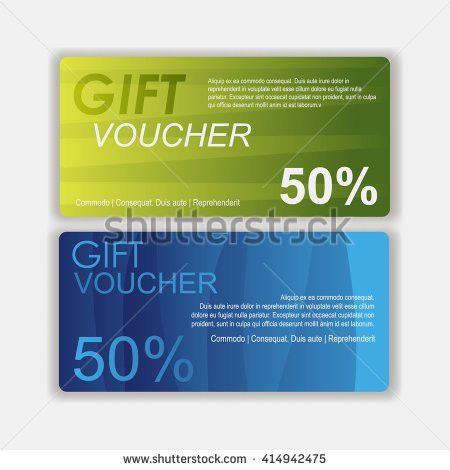 Voucher Template Gift Sale Voucher Certificate Stock Vector ...