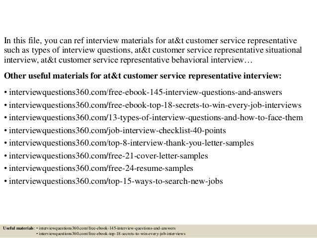 Top 10 at&t customer service representative interview questions and a…