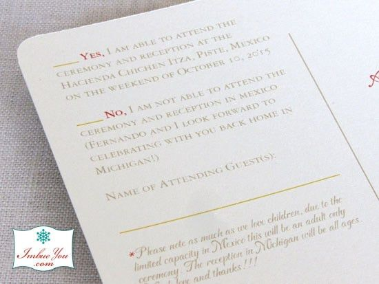 How About an Invitation Letter for a Destination Wedding? | Imbue ...