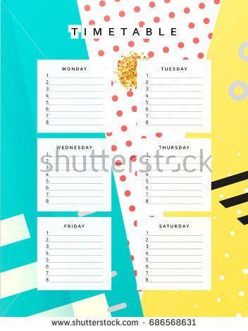 Planner Calendar Schedule Week Abstract Design Stock Vector ...
