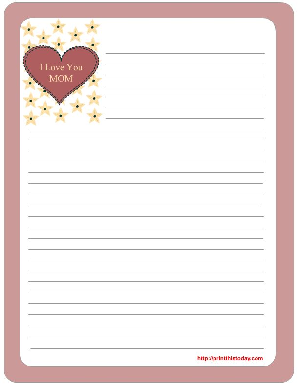 Free mother's day stationery Printables