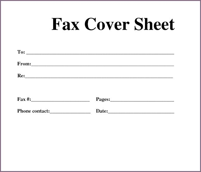 FAX COVER SHEET PDF | proposalsampleletter.com