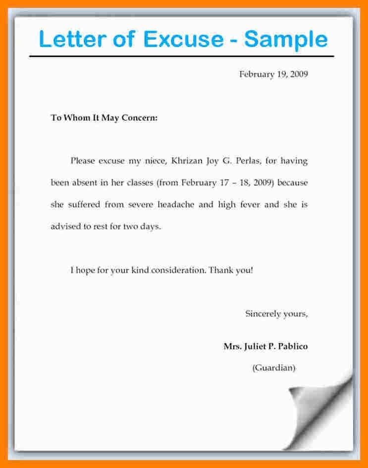9+ example of excuse letter for school absence | farmer resume