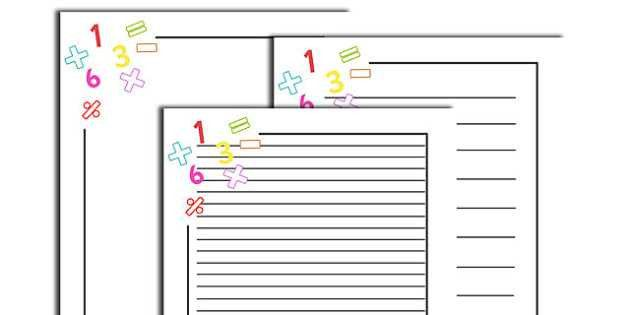 Numeracy Page Borders - Numeracy, numbers, page border, a4