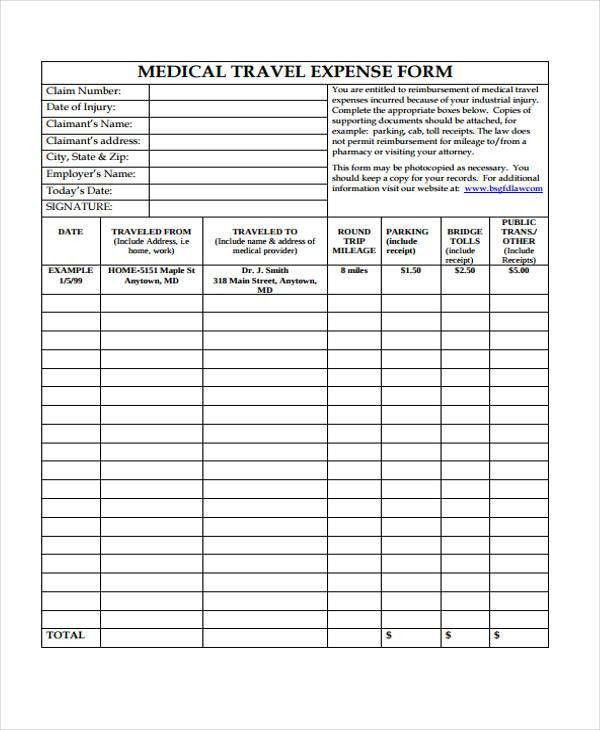 10+ Medical Expense Form Sample - Free Sample, Example Format Download