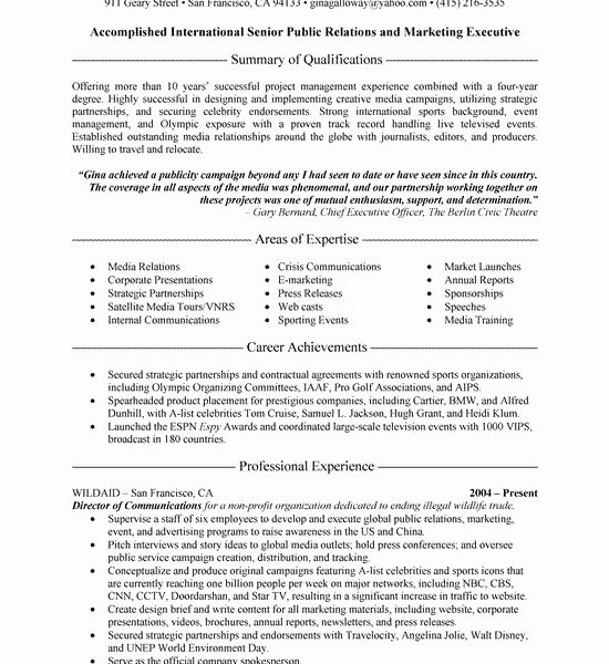Lovely Pr Resume 6 Relations Executive Resume Example - Resume Example
