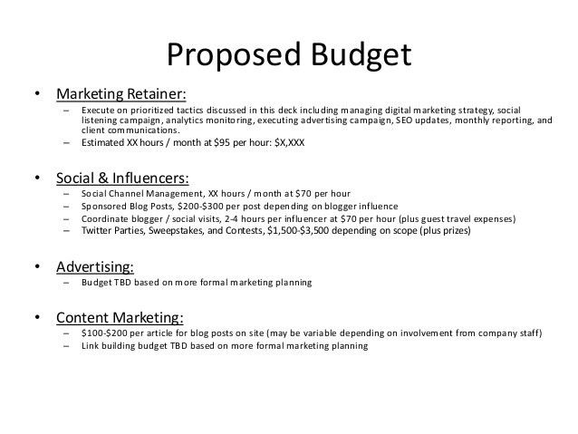 Digital and Social Content Marketing Proposal Example for Resort Hotel
