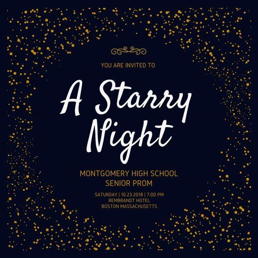 Starry Night Prom Invitation - Templates by Canva