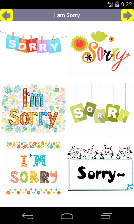 I am Sorry (Card, GIF, Emoji) - Android Apps on Google Play