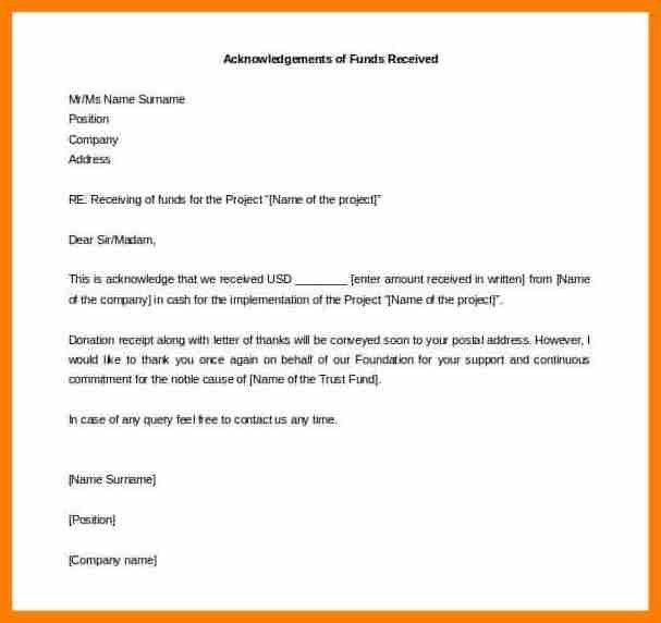 8+ cash received letter format | sephora resume