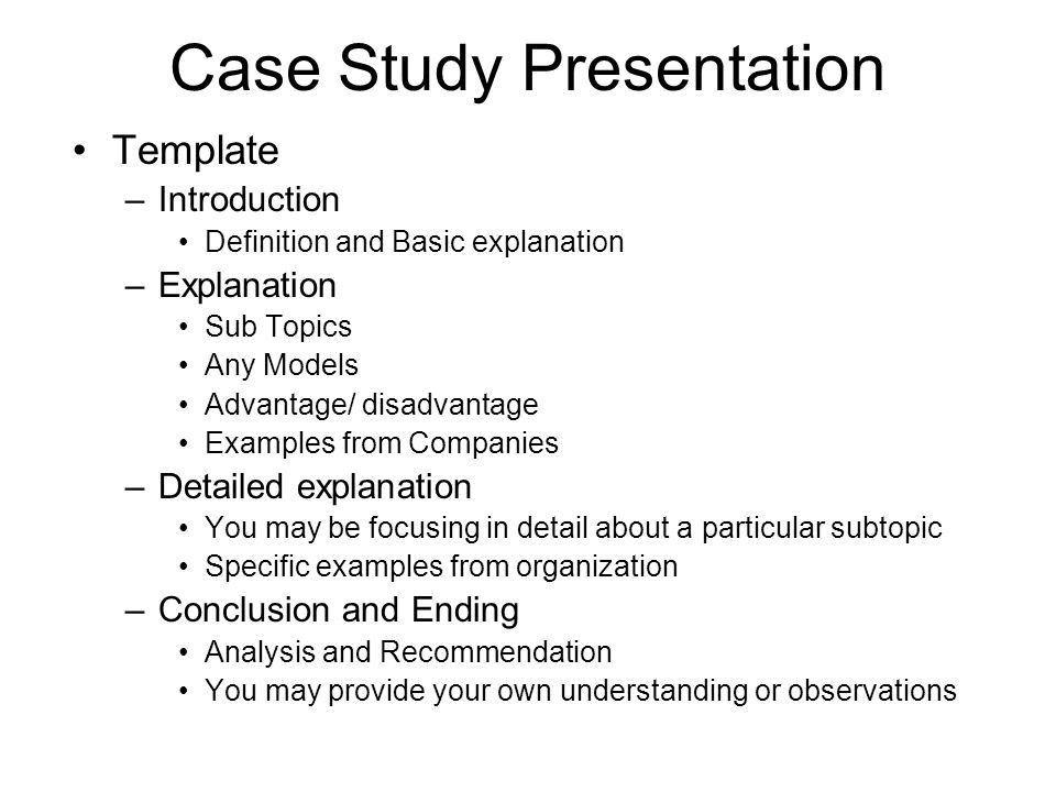 Case Study Presentation - ppt video online download