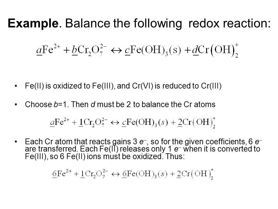 Oxidation-Reduction (Redox) Reactions - ppt video online download