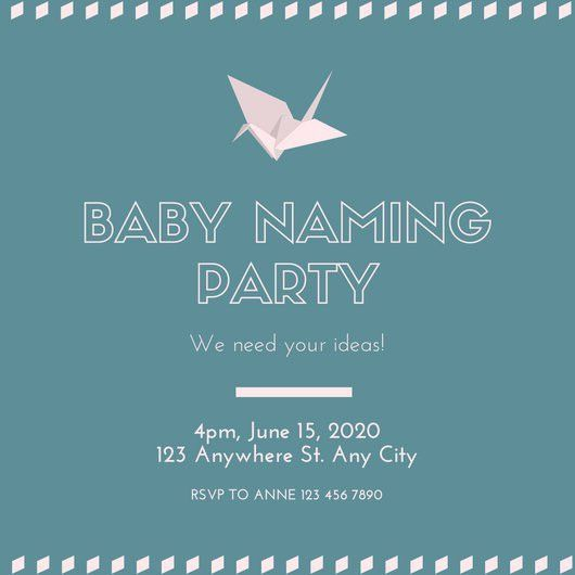 Naming Ceremony Invitation Template. New Naming Ceremony ...