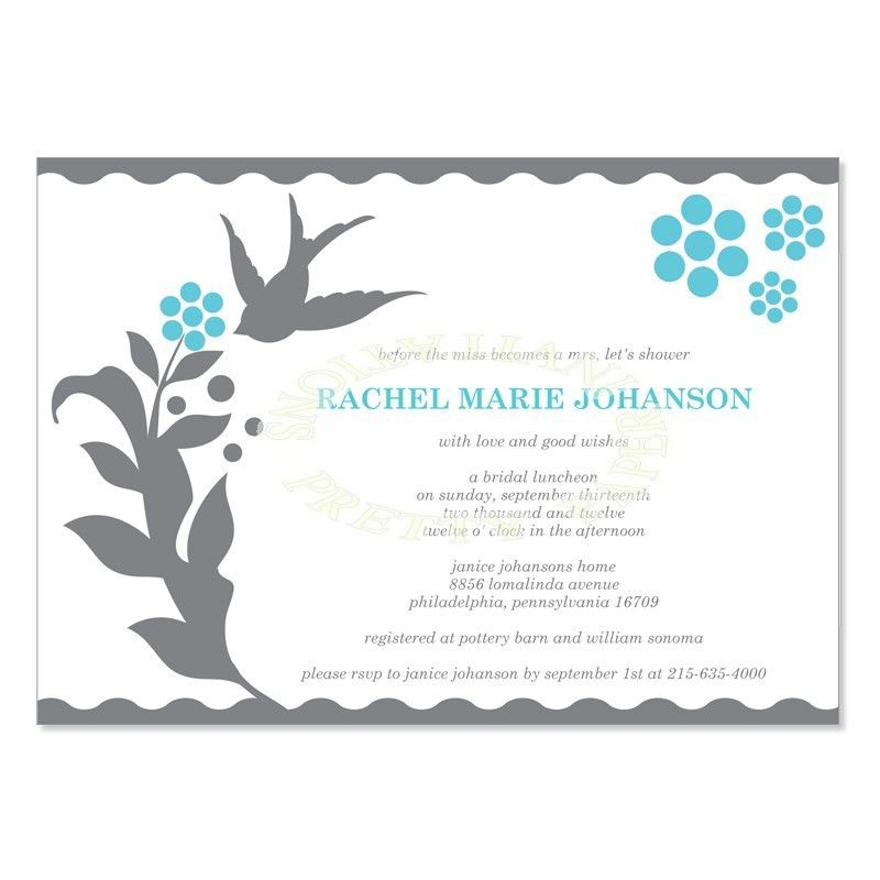 Bridal Shower Invitation Templates - plumegiant.Com