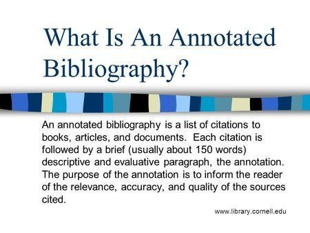Keeping Track of Your Sources Writing an Annotated Work Cited ...