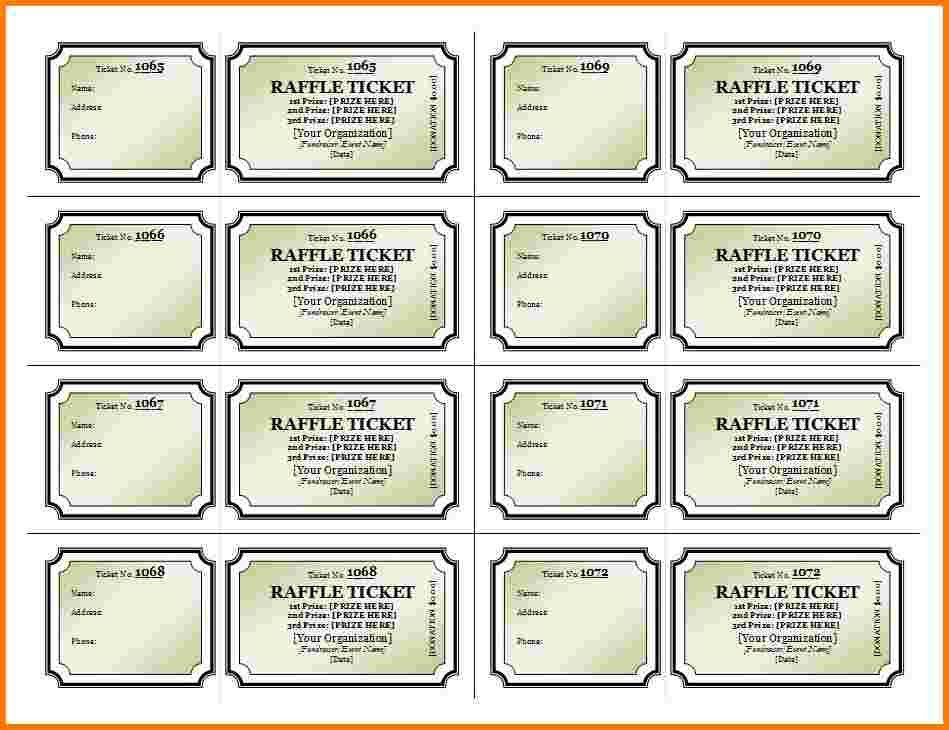 6 raffle ticket template | Receipt Templates