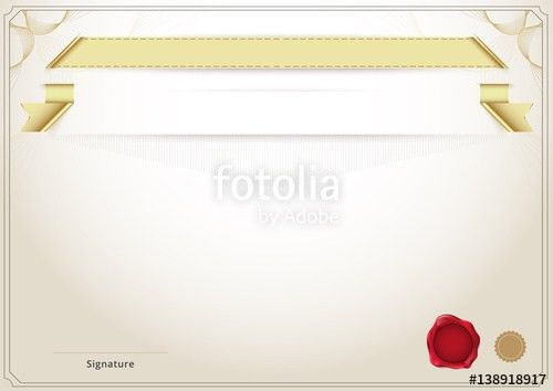 Blank diploma and certificate template background. vector ...