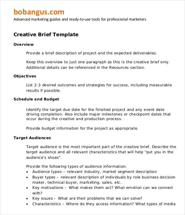 Marketing Brief Template - Free Word, Excel Documents Download ...