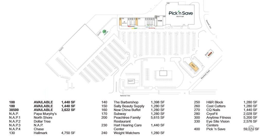 Retail Space for lease, Moorland Square Shopping Ctr, New Berlin ...
