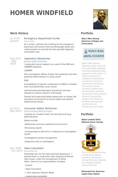 Emergency Resume samples - VisualCV resume samples database