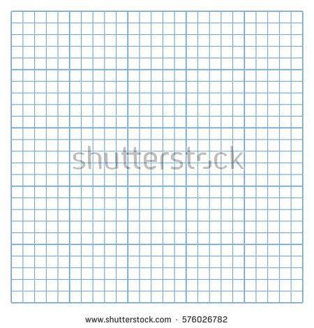 Hexagonal Graph Paper Template. Square Mesh White Graph Paper ...
