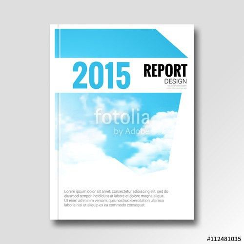 Cloud sky vector annual report cover brochure flyer magazine ...