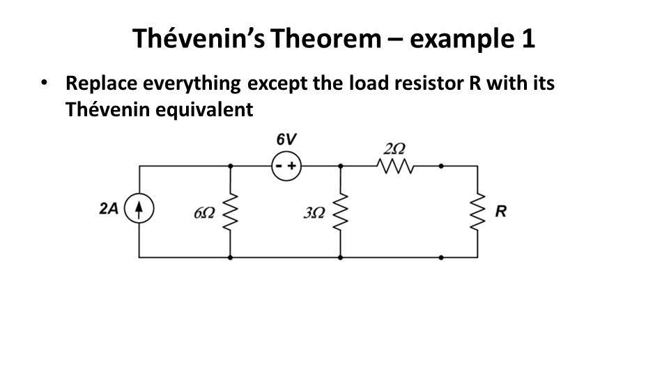 Lecture 11 Thévenin's Theorem Norton's Theorem and examples - ppt ...