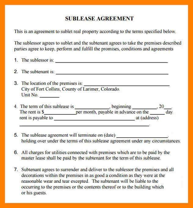 10+ Sub Tenant Agreement | Producer ResumeSublet Agreement. Model ...