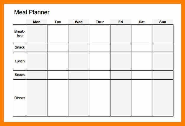 5+ blank weekly menu template | hostess resume
