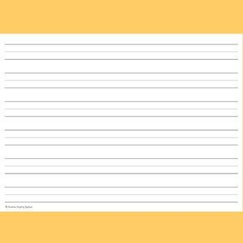 FREE! 72pt 1 inch Lined Writing Paper for Pre & K Handwriting ...