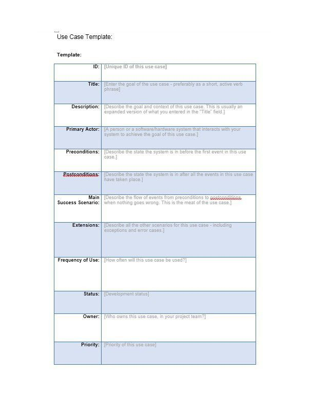 Beautiful 40 Use Case Templates U0026 Examples (Word, PDF)   Template Lab