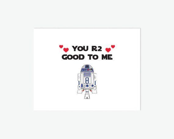 Star Wars Birthday Card Printable // You R2 Good to Me // R2D2 ...