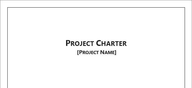 Project Charter Template for Microsoft Word 2013 | Robert McQuaig Blog
