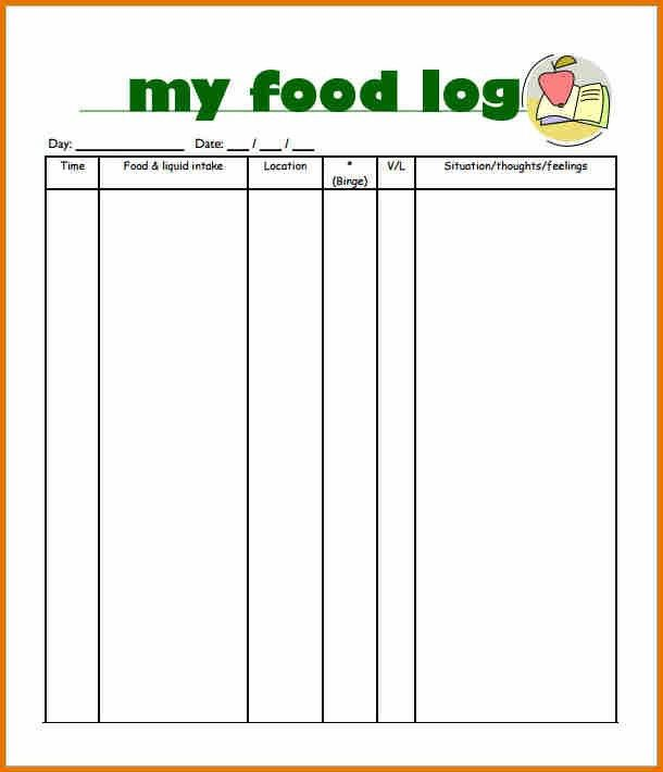 9+ food log template | plantemplate.info