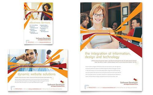 IT & Computer Consulting | Print Ad Templates | Technology