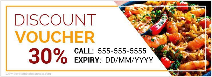 Food Voucher Templates for MS Word | Formal Word Templates