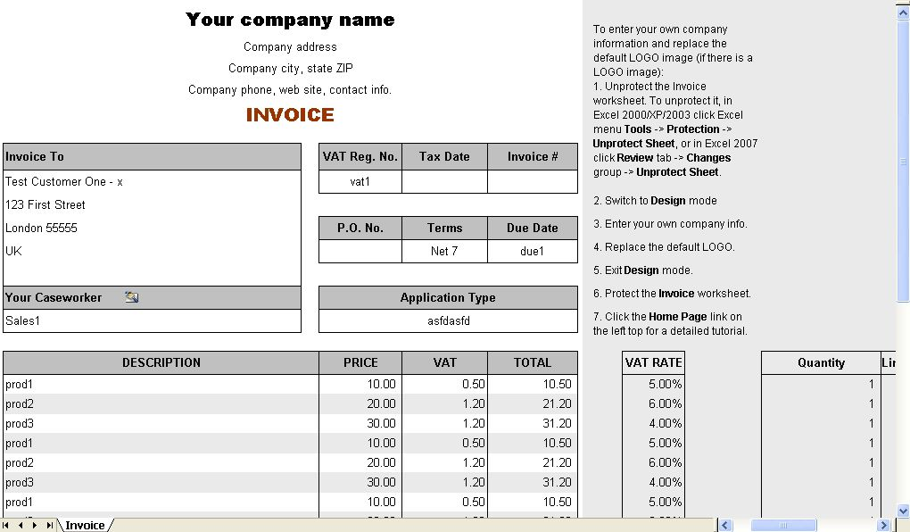 Freeware Download: Computers Shop Bill Format In Excel