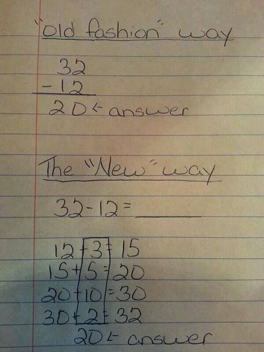 About That 'Common Core' Math Problem Making the Rounds on ...