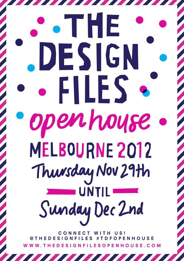 The Design Files Open House flyer by Georgia Perry! www ...