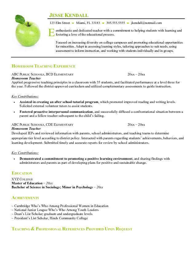 Educator Resume, teacher assistant resume sample resume for ...