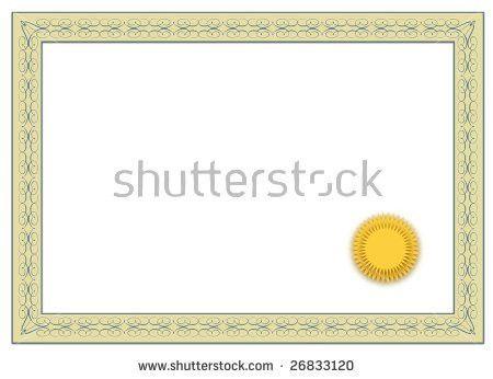 Vector Certificate Seal Stock Vector 10345087 - Shutterstock