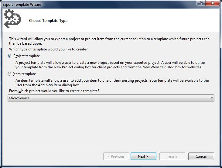 Visual Studio project templates: a (possible) boon for micro ...