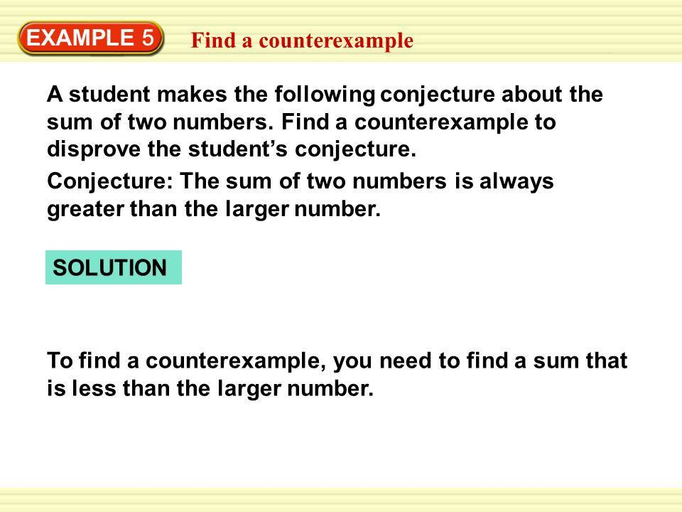 EXAMPLE 5 Find a counterexample - ppt download