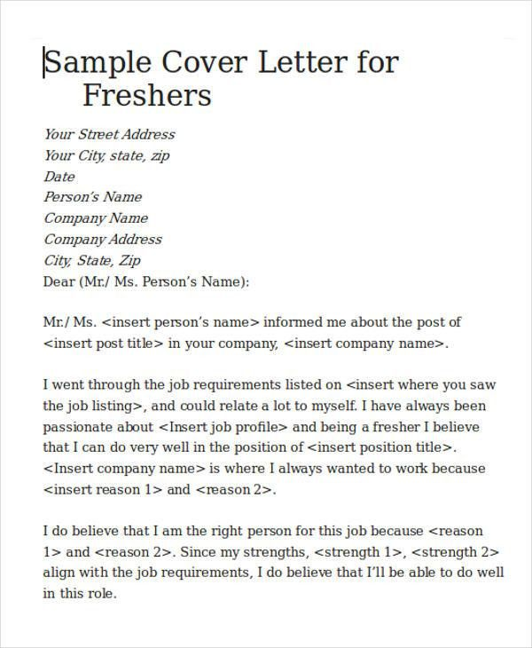 Cover Letter for Software Engineer - 5+ Examples in Word, PDF