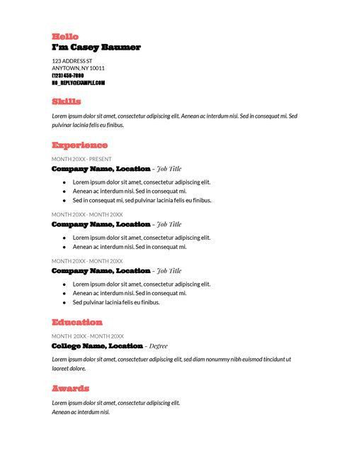 Best 25+ Good resume templates ideas on Pinterest | Good resume ...