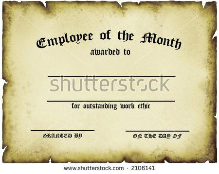 Customizable Employee On Month Certificate Stock Illustration ...