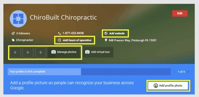 ChiroBuilt How to Setup a Google My Business Listing for ...